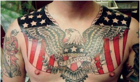Army Corps of Engineers motto: Essayons (Let Us Try) #InkedMagazine #tattoo #chestpiece #art #Army #military