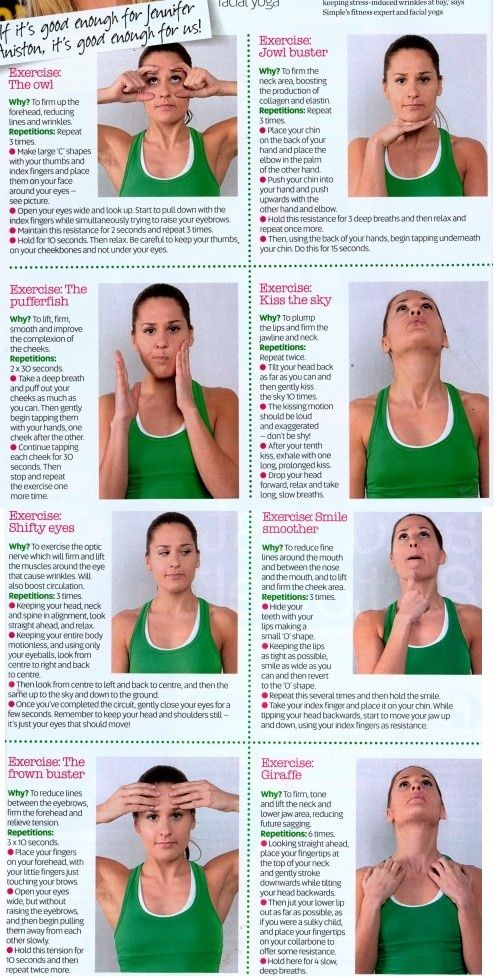 Facial Yoga... start now so in ten years there are no worries