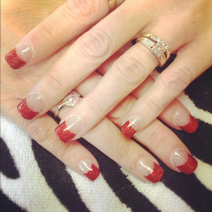 1000+ Ideas About Red Tip Nails On Pinterest