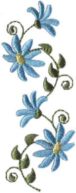 Daisy Border machine embroidery design.