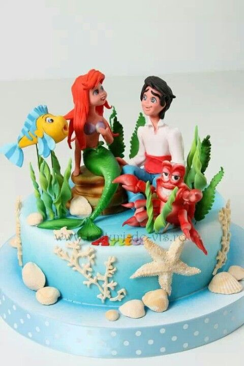 .love the combination of shells, grass etc. next time for my under the sea themed cake.