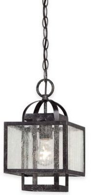 Minka Lavery Camden Square 1-Light Pendant in Charcoal