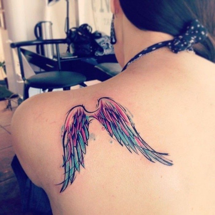 1001 Ideas For A Beautiful And Meaningful Angel Wings Tattoo In 2020 Broken Wings Tattoo Angel Wings Tattoo Wings Tattoo