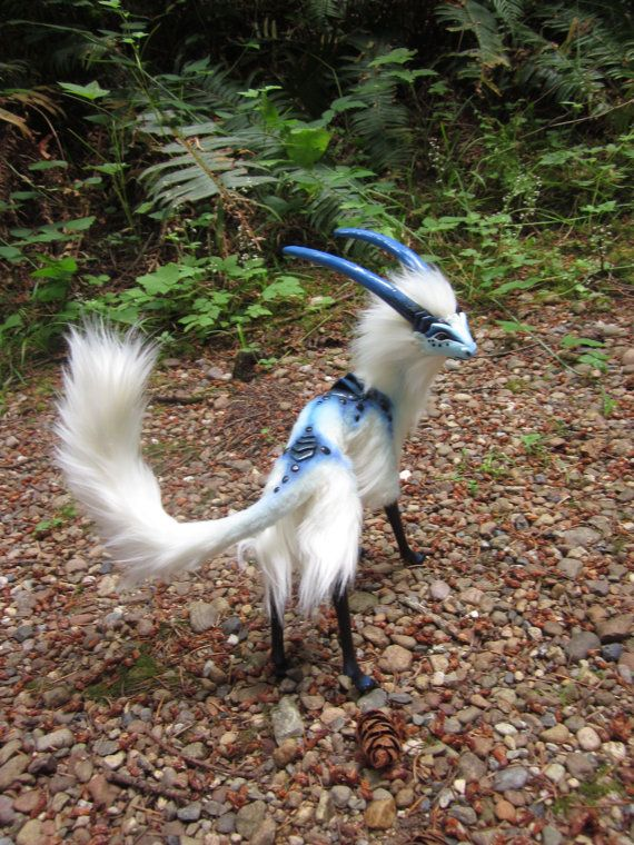 Cloud Antelope Ooak Posable Fantasy Creature By Cmwyvern