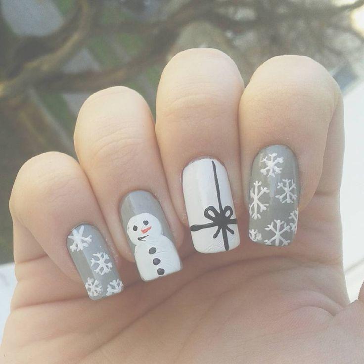 Domi Králiková (@domi_nailart) When there is no snow in this world❄ #snow #snowflakes #christmasnails #gift #bow #snownails #greynails #snowman #whitenails #funnynails #nailart #avon #nailartist #nailartideas #nailartlover #nailpolish #winternails #winter #follow #followmenow #longnails #naturalnails #nailpaiting