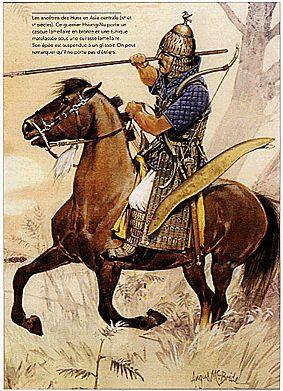 Osprey Delprado. Chevaliers et soldats du moyen age - 013 - Attila et les Huns