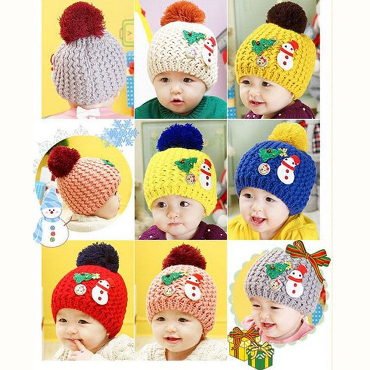 New Winter Warm Boys Girls Children Baby Christmas Cap Snowman Knitting Wool Hat Hat-0128
