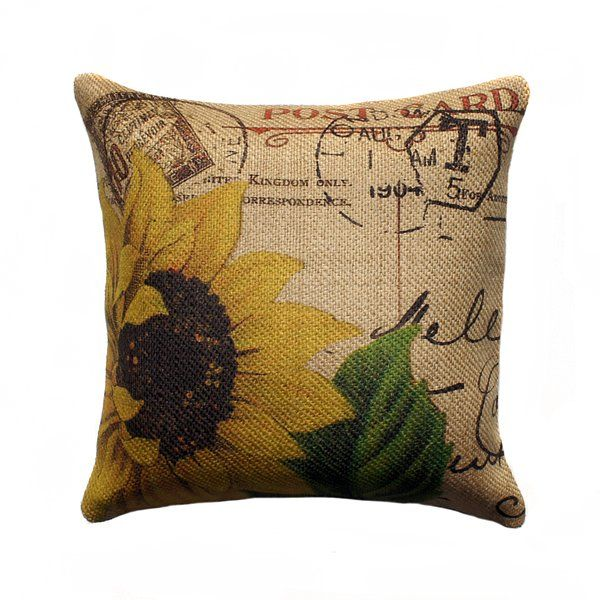 You'll love the French Sunflower Burlap Throw Pillow at Birch Lane - With Great Deals on all products and Free Shipping on most stuff, even the big stuff.