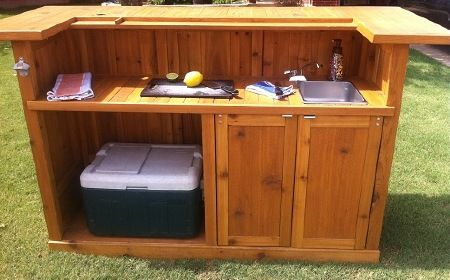 Free Portable Outdoor Bar Plans | DIY Woodworking
