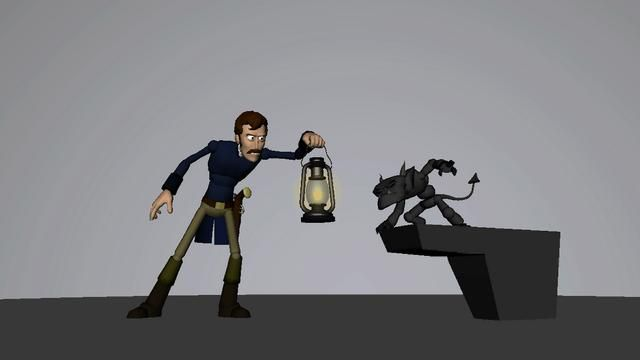 A three week animation test. The models are modified versions of the free Norman Rig with custom pieces added and rigged. The lantern and pistol models were created by me.