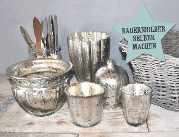 DIY Kit Bauernsilber-Silberglas selber machen