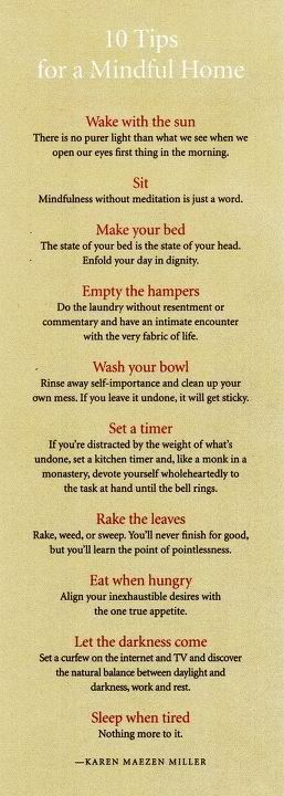 Zen Cleaning tips...