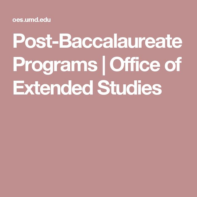 Post-Baccalaureate Programs | Office of Extended Studies