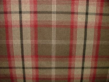 Balmoral Rosso Wool Effect Washable Thick Tartan Curtain Fabric - DSCF6190