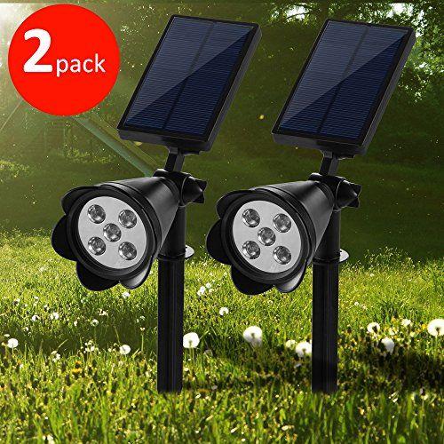 250 lumens waterproof solar inground lightswall light adjustable autoon at by