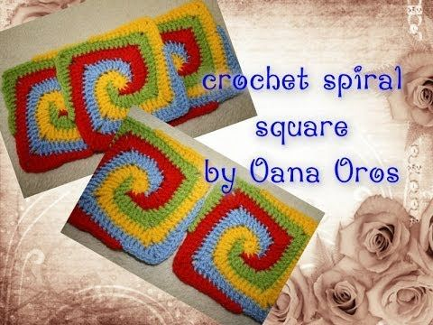 ▶ crochet spiral square - YouTube