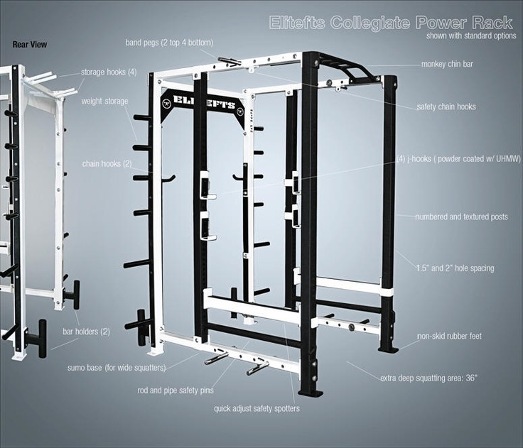 Power cage power rack squat rack at home gym