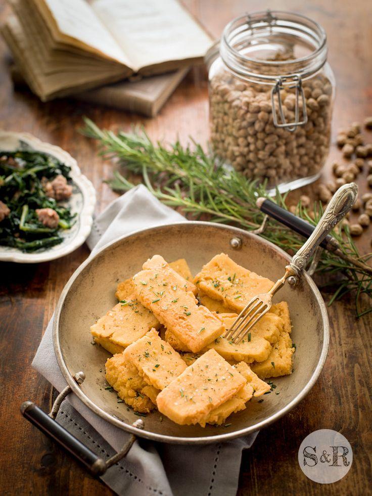 On my blog: La Panissa, a typical Ligurian dish made from chickpea flour.  www.salviarosmarino.com