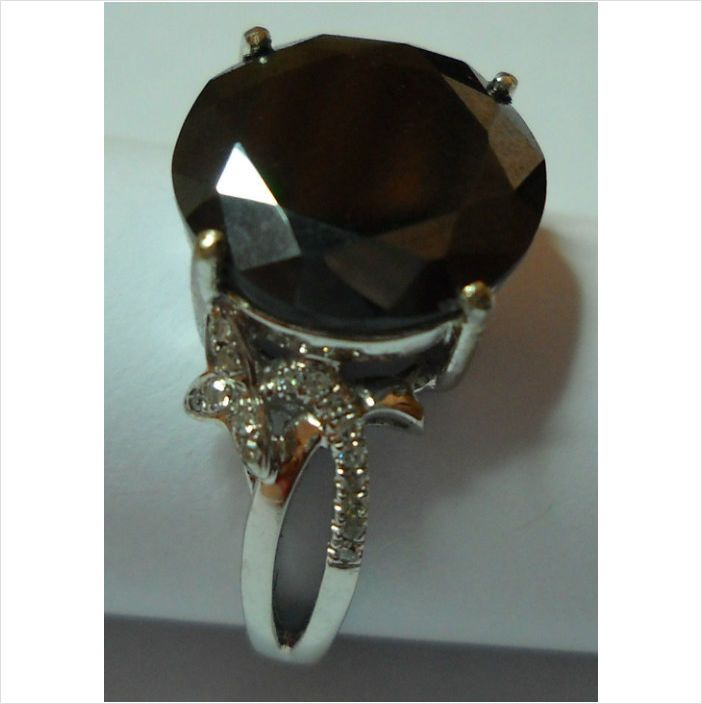 5.1ct Black Diamond & .11ct Side Diamonds Set In 10k Yellow Gold Valuated R28491 on eBid South Africa