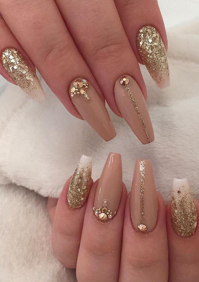 35 Classy Gold Nail Art Designs For Fall Golden Nails Designs Golden Nail Art Gold Nails