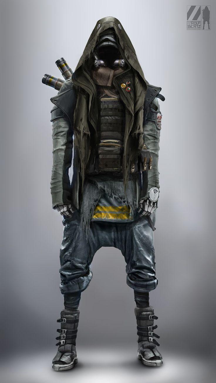 Rolf Bertz Concept Art: cyborg apocalypse survivor