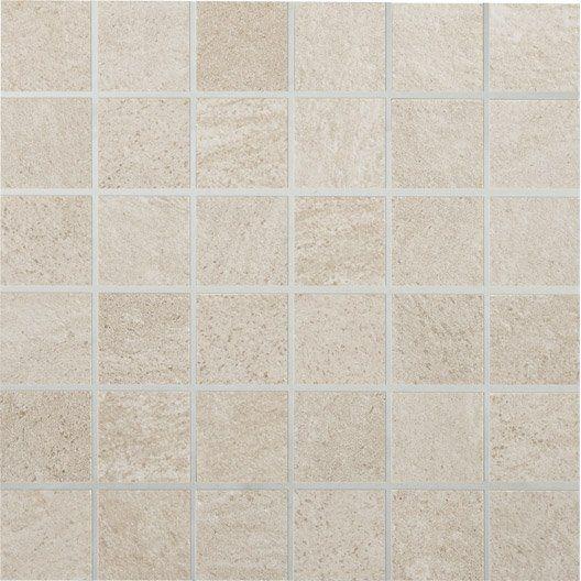 Mosaique milano premium beige 5x5 cm fa ence carrelage for Carrelage 5x5