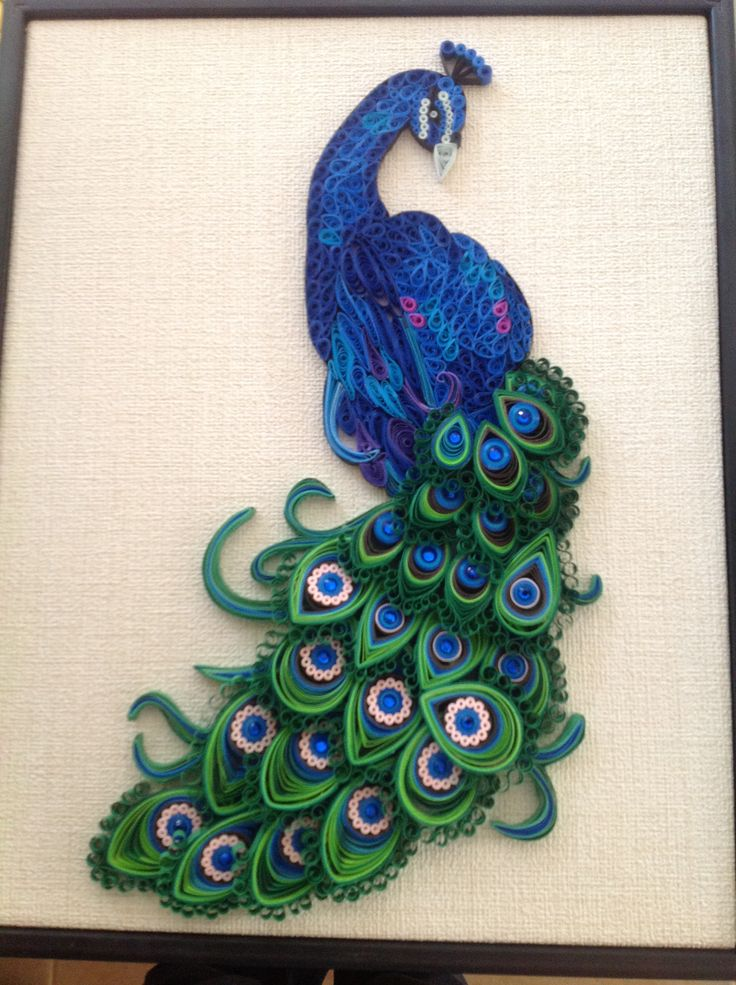 Paper quilling peacock google search painting for Paper quilling paper