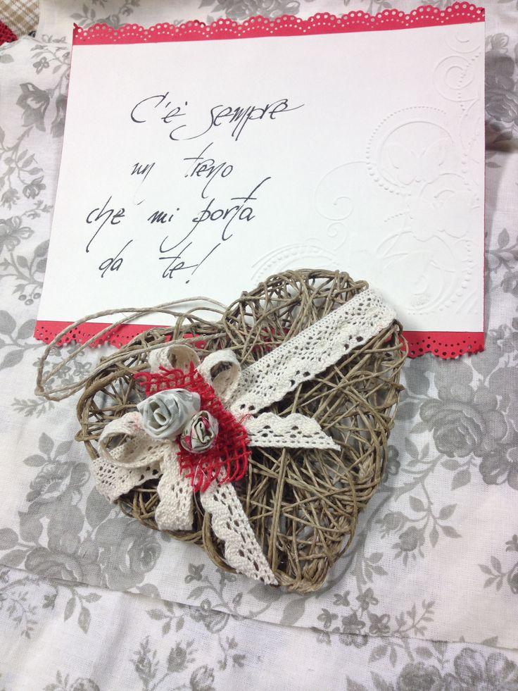 Cuore di corda... bomboniera per Anniversario di Matrimonio