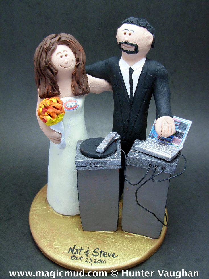 Wedding Cake Topper for a DJ http://www.magicmud.com   1 800 231 9814  magicmud@magicmud.com  https://twitter.com/caketoppers         https://www.facebook.com/PersonalizedWeddingCakeToppers $235  #wedding #cake #toppers #custom #personalized #Groom #bride #anniversary #birthday#weddingcaketoppers#cake toppers#figurine#gift#wedding cake toppers #disc-jockey#DJ#party#music#mixmaster#DeeJay#Karaoke#discJockey