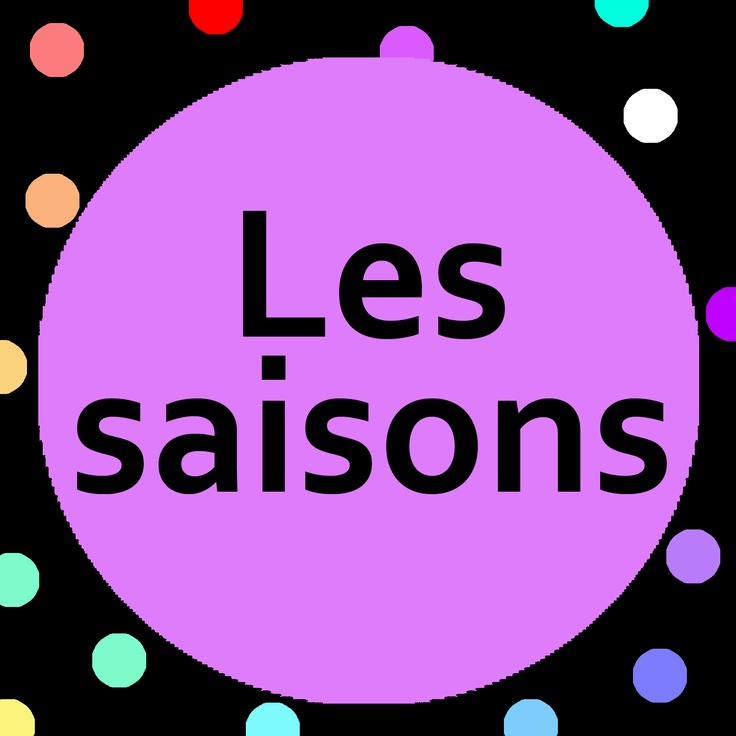 Teach the 4 seasons with Les saisons song and song lyrics for preschoolers and kindergarten children (maternelle).