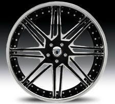 "22"" Asanti AF163 Black Chrome Wheels Rims 3 Piece"