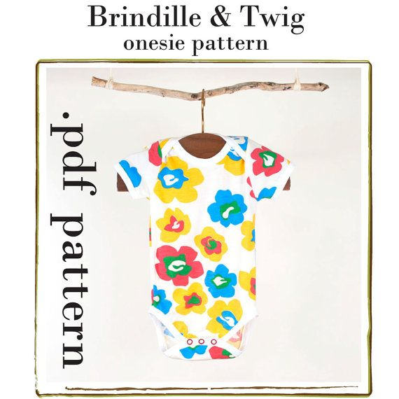 Baby onesie sewing pattern .pdf instant download sizes 0-3, 3-6, 6-9, 9-12