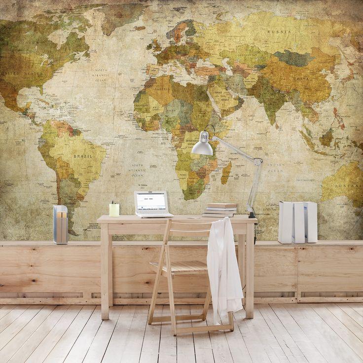 die besten 25 fototapete weltkarte ideen auf pinterest weltkarte tapete weltkarte wallpaper. Black Bedroom Furniture Sets. Home Design Ideas