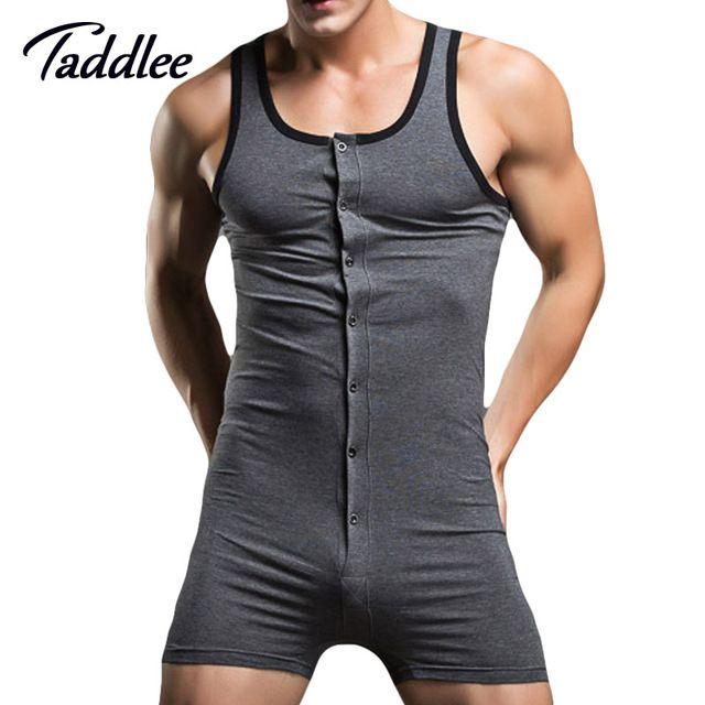 Taddlee Men Bodysuit