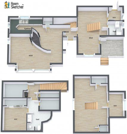 Two floors of a home design project what do you think for Floor plans for patio homes