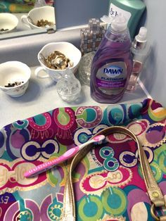 How to Clean a Coach Purse | Sleeping in Socks