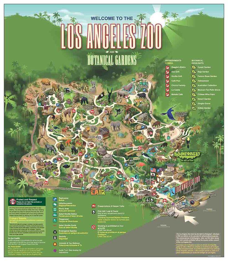 LA Zoo/Botanical Gardens Map