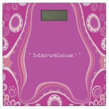 "Abstract-Fish_"" Marvelous !"" (c) Hot Pink_ Bathroom Scale"