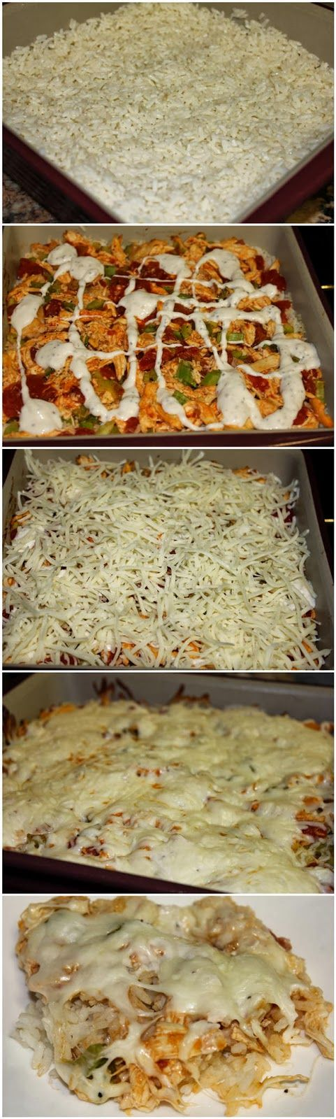 Buffalo Chicken Casserole- So good, but instead of the blue cheese use ranch dressing