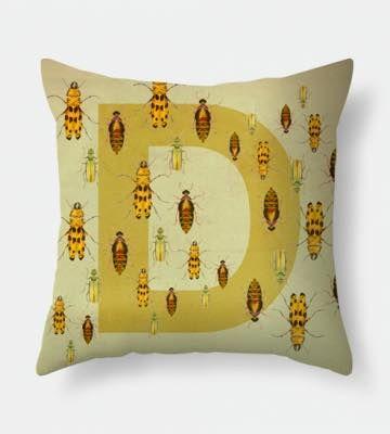 Letter D pillow
