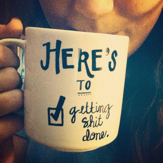 Custom Illustrated Coffe Mugs and Cups by JaxandFinn on Etsy, $10.00 @Ella Marie