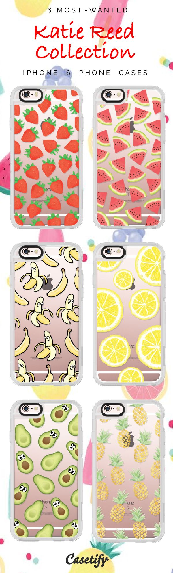 Top 6 Katie Reed collection iPhone 6 protective phone case designs | Click through to see more iPhone phone case idea >>>https://www.casetify.com/katscases/collection | @casetify