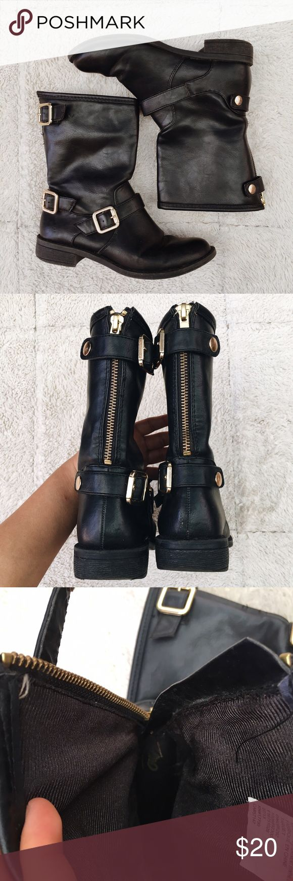 Mossimo Zip-Up/Buckled Boots Buckles and zipper. Like new. Ask me questions! 🌞 Mossimo Supply Co Shoes