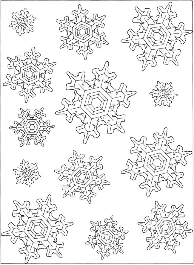 434 best seasonal coloring pages images on pinterest for Snowflakes printable coloring pages