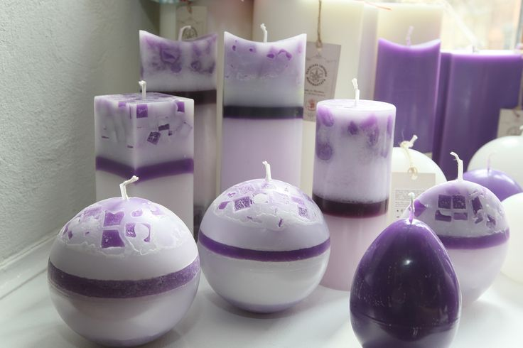 spring candles collection. Love the colors.