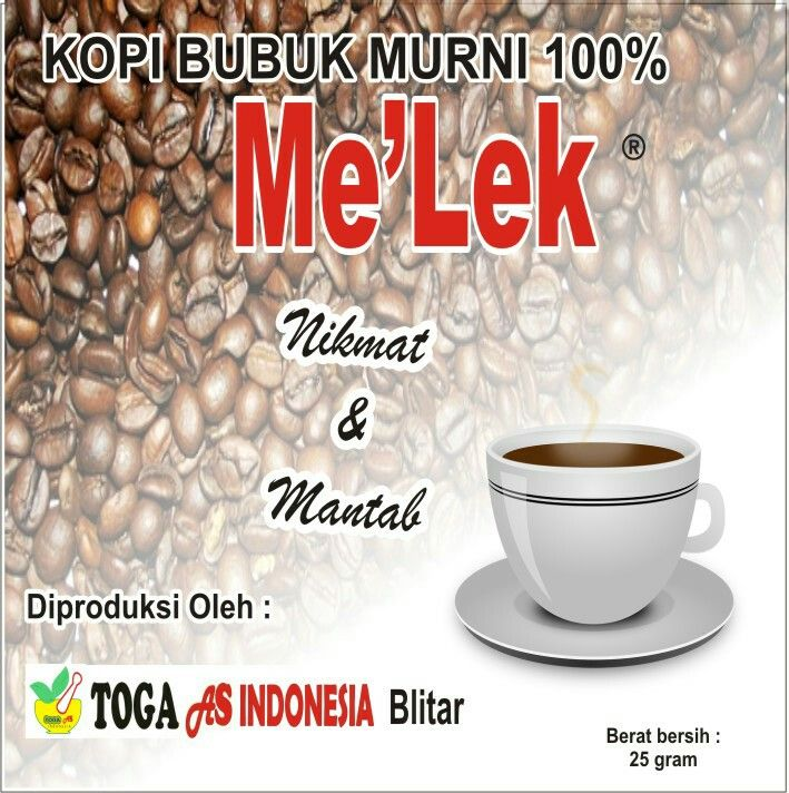 Kopi bubuk Melek produk Toga As Indonesia hp.08563553322 website: http://produktogaasindonesia.wordpress.com