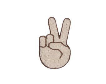 Peace Sign Emoji Iron on Patch