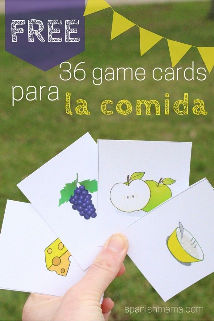 Mi Vida Loca Episode 12: Día de mercado. Free printable!! 36 picture cards for food terms in Spanish. Perfect for concentration, Go Fish, Slap-it, and other vocabulary games. Make learning la comida fun!