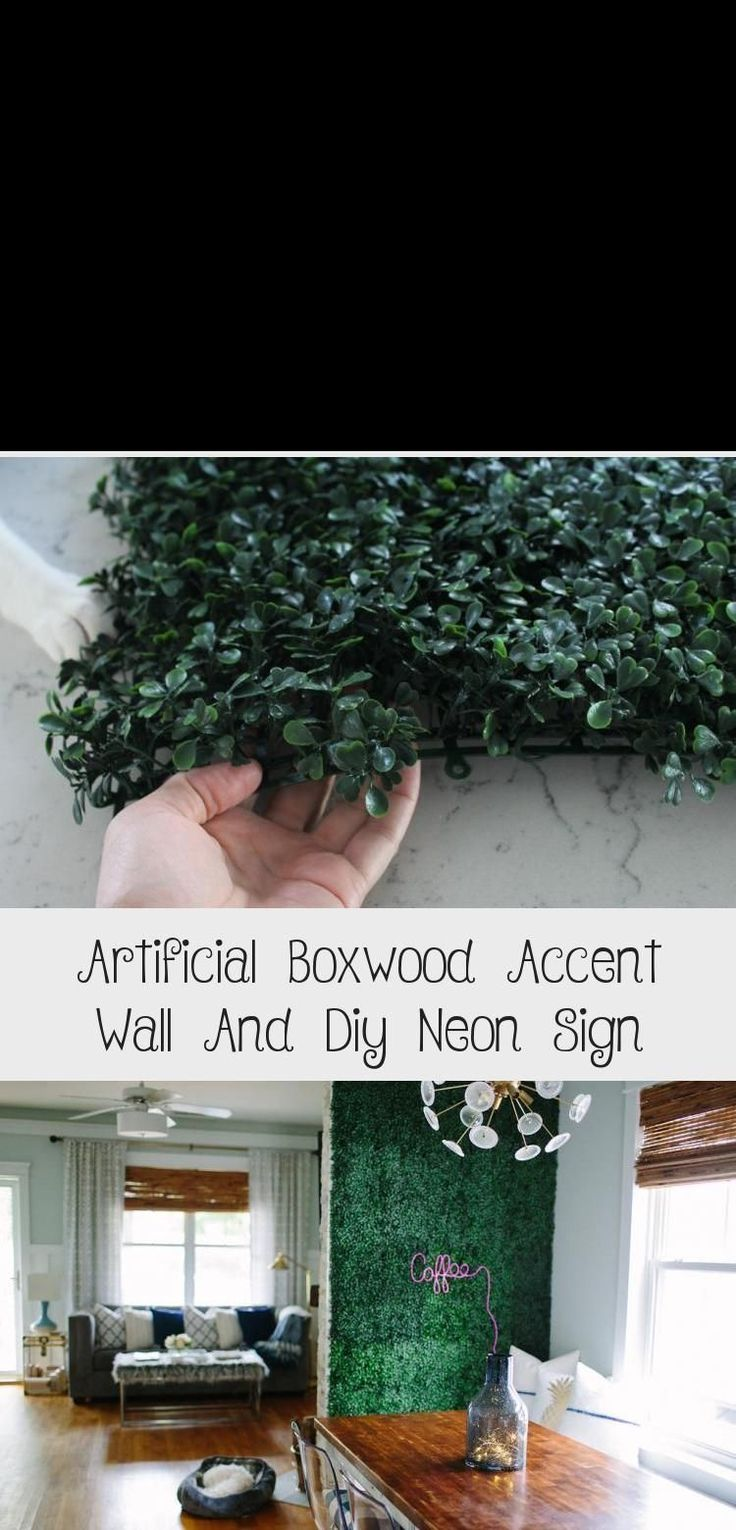 5 Grass/Shrub accent Wall Artificial Boxwood Accent Wall