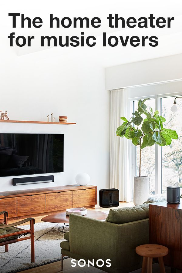 Home theater designed for your home. TV, movies and music fill your home with Sonos.